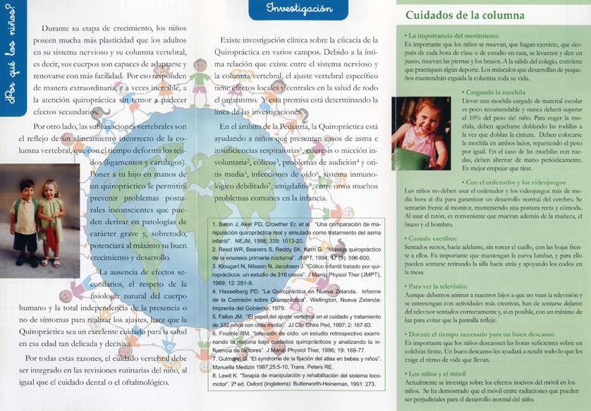 cuidado quiropractico prevencion infantil