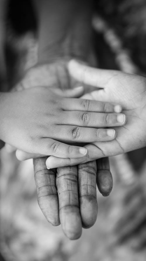 manos, cariño, cuidado, protección
