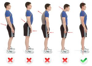 salud postural de pie parado